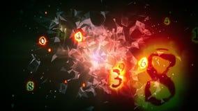 Πέταγμα αριθμών καψίματος διανυσματική απεικόνιση