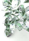 πέταγμα ευρώ Στοκ εικόνα με δικαίωμα ελεύθερης χρήσης