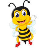 Πέταγμα κινούμενων σχεδίων μελισσών Στοκ εικόνα με δικαίωμα ελεύθερης χρήσης
