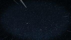 Πέταγμα μέσω των τομέων αστεριών στο διάστημα σκοτεινός απεικόνιση αποθεμάτων