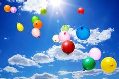 πέταγμα μπαλονιών Στοκ Φωτογραφίες