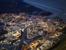 Πέταγμα πέρα από τη Στοκχόλμη στοκ εικόνα με δικαίωμα ελεύθερης χρήσης