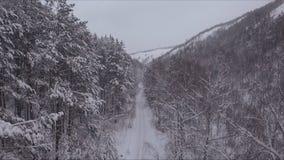 Πέταγμα πέρα από το φαράγγι βουνών απόθεμα βίντεο