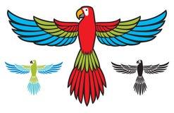 Πέταγμα παπαγάλων ελεύθερη απεικόνιση δικαιώματος