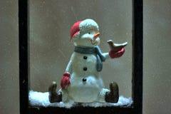 Πέταγμα περιστεριών χιονανθρώπων Στοκ εικόνες με δικαίωμα ελεύθερης χρήσης