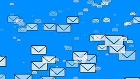 Πέταγμα ταχυδρομείου (φάκελοι ηλεκτρονικού ταχυδρομείου) ελεύθερη απεικόνιση δικαιώματος