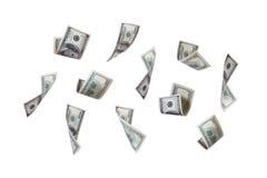 Πέταγμα τραπεζογραμματίων δολαρίων Στοκ Εικόνες
