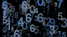 Πέταγμα των μπλε αριθμών απόθεμα βίντεο