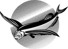 πέταγμα ψαριών διανυσματική απεικόνιση
