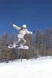 πέταγμα snowboarder Στοκ εικόνα με δικαίωμα ελεύθερης χρήσης