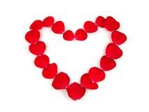 πέταλα καρδιών Στοκ φωτογραφίες με δικαίωμα ελεύθερης χρήσης