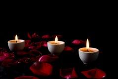 πέταλα κεριών Στοκ Φωτογραφίες