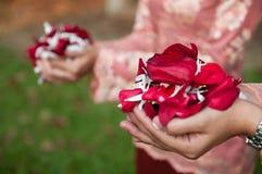 πέταλα χεριών λουλουδιώ Στοκ φωτογραφία με δικαίωμα ελεύθερης χρήσης