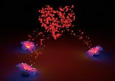 πέταλο καρδιών Στοκ Φωτογραφία