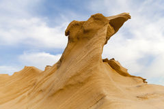 Πέτρα άμμου στην έρημο Στοκ Εικόνες