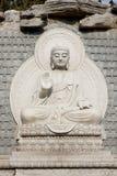 πέτρα αγαλμάτων του Βούδα Στοκ εικόνες με δικαίωμα ελεύθερης χρήσης