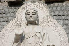 πέτρα αγαλμάτων του Βούδα Στοκ Φωτογραφία