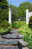 πέτρα βημάτων κήπων Στοκ Φωτογραφία
