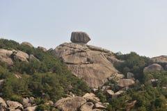 Πέτρα βουνών Jiuhoushan Στοκ Φωτογραφίες