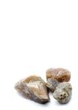 Πέτρα βράχου γρανίτη στο άσπρο υπόβαθρο Στοκ Εικόνες