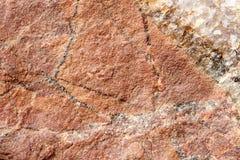 Πέτρα βράχου με την καφετιά σύσταση απόχρωσης, εκλεκτική εστίαση Για το υπόβαθρο, σκηνικό, υπόστρωμα, χρήση σύνθεσης Στοκ φωτογραφία με δικαίωμα ελεύθερης χρήσης