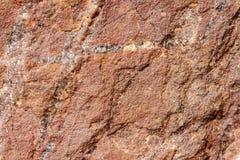 Πέτρα βράχου με την καφετιά σύσταση απόχρωσης, εκλεκτική εστίαση Για το υπόβαθρο, σκηνικό, υπόστρωμα, χρήση σύνθεσης Στοκ Εικόνες