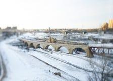 πέτρα γεφυρών αψίδων Στοκ Φωτογραφίες