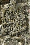 πέτρα επιγραφής Στοκ φωτογραφία με δικαίωμα ελεύθερης χρήσης