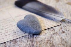 πέτρα ζωής καρδιών ακόμα Στοκ Φωτογραφία