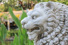 Πέτρα λιονταριών στον κήπο Στοκ εικόνα με δικαίωμα ελεύθερης χρήσης