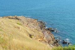 Πέτρα και θάλασσα βουνών Στοκ Εικόνες