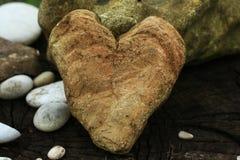 πέτρα καρδιών στοκ φωτογραφία