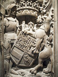 πέτρα λιονταριών ιπποτών Στοκ εικόνες με δικαίωμα ελεύθερης χρήσης