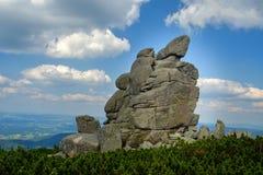 Πέτρα μεσημεριού, Slonecznik, γιγαντιαία βουνά Στοκ Φωτογραφία