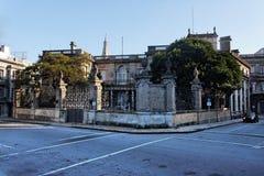 πέτρα Ουρουγουάη του Μοντεβίδεο μεγάρων Στοκ Εικόνες
