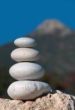 πέτρα πυραμίδων βουνών Στοκ φωτογραφίες με δικαίωμα ελεύθερης χρήσης