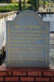 Πέτρα πληροφοριών του παλαιού μουσουλμανικού τεμένους Pengkalan Kakap σε Merbok, Kedah Στοκ φωτογραφία με δικαίωμα ελεύθερης χρήσης