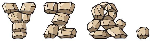 πέτρα σημείων αλφάβητου ampersand yz απεικόνιση αποθεμάτων