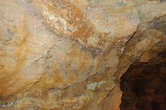 Πέτρα σπηλιών κρυστάλλου οριζόντια Στοκ φωτογραφία με δικαίωμα ελεύθερης χρήσης