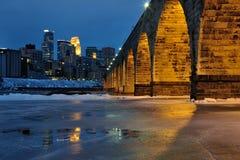 πέτρα της Μινεάπολη γεφυρών αψίδων Στοκ εικόνα με δικαίωμα ελεύθερης χρήσης