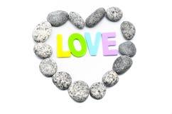 Πέτρα χαλικιών μορφής καρδιών Στοκ Εικόνες