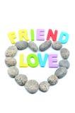 Πέτρα χαλικιών μορφής καρδιών Στοκ εικόνα με δικαίωμα ελεύθερης χρήσης