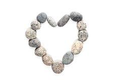 Πέτρα χαλικιών στη μορφή καρδιών Στοκ Εικόνες
