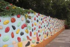 Πέτρα χρώματος μωσαϊκών του τοίχου Στοκ Εικόνες