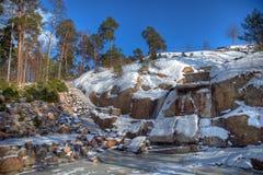 πέτρα kotka κήπων Στοκ εικόνες με δικαίωμα ελεύθερης χρήσης