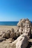 Πέτρα Patara θάλασσας παραλιών Στοκ Φωτογραφία