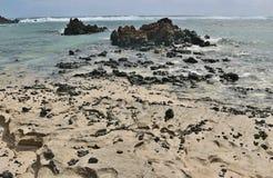 Πέτρες λάβας στην ακροθαλασσιά, Lanzarote Στοκ φωτογραφία με δικαίωμα ελεύθερης χρήσης