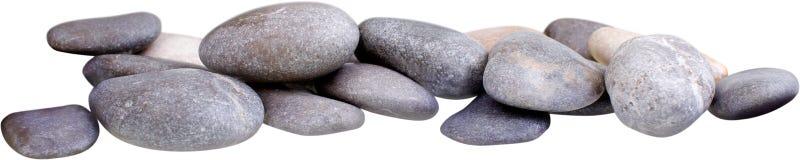 Πέτρες βασαλτών της Zen στο υπόβαθρο Στοκ Φωτογραφία