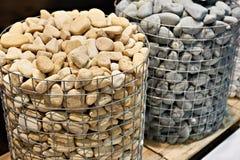 Πέτρες για τη σόμπα στη σάουνα Στοκ Εικόνες
