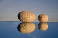 πέτρες δύο καθρεφτών Στοκ Φωτογραφίες